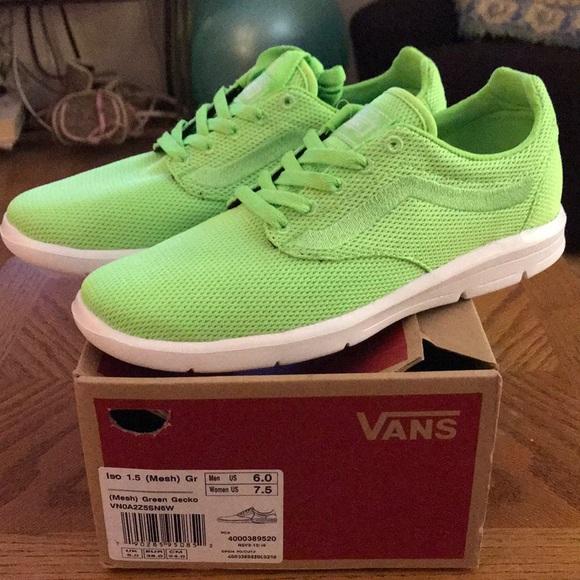 42beda410836e3 Vans iso 1.5 mesh green gecko sneakers sz 7.5